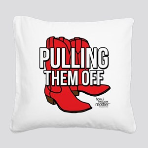 HIMYM Red Boots Square Canvas Pillow