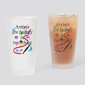 Artists See Beauty Drinking Glass