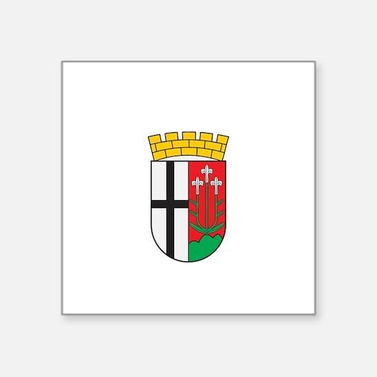 "Unique German crest Square Sticker 3"" x 3"""