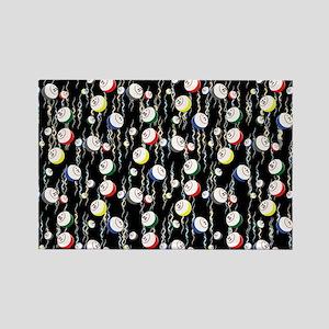Festive Bingo Balls Rectangle Magnet