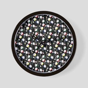 Festive Bingo Balls Wall Clock