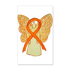 Orange Ribbon Angel Wall Decal