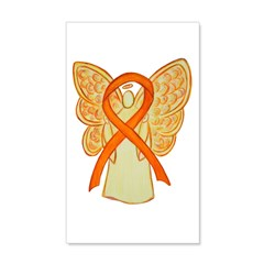 Orange Ribbon Angel Wall Decal