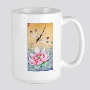 Lotus Dragonfly Art Mugs