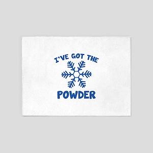I've Got The Powder 5'x7'Area Rug