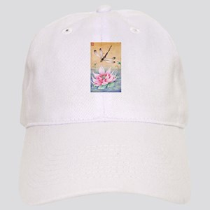 Lotus Dragonfly Art Cap