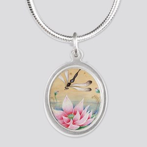 Lotus Dragonfly Art Necklaces