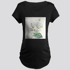 Lotus and dragonfly Maternity T-Shirt