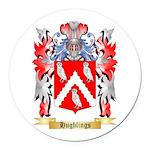 Hughlings Round Car Magnet