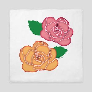 Roses Batik Queen Duvet
