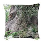 Eucalyptus Tree Woven Throw Pillow