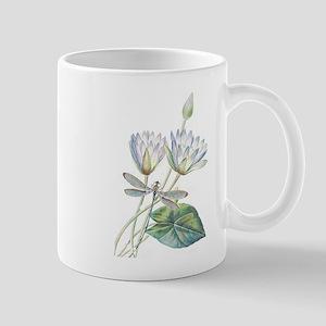Lotus and dragonfly Mugs