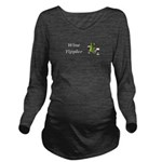 Wine Tippler Long Sleeve Maternity T-Shirt