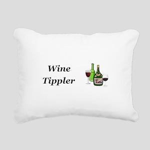 Wine Tippler Rectangular Canvas Pillow