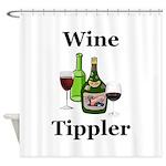Wine Tippler Shower Curtain