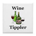 Wine Tippler Tile Coaster