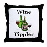 Wine Tippler Throw Pillow