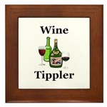 Wine Tippler Framed Tile