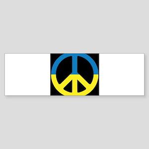Peace Sign Ukraine Flag - ????????? Bumper Sticker