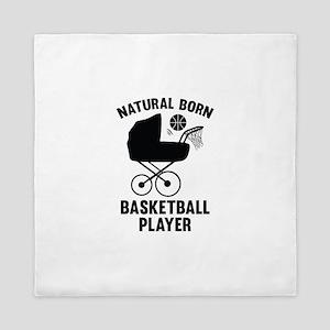 Natural Born Basketball Player Queen Duvet