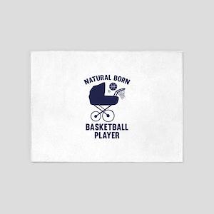 Natural Born Basketball Player 5'x7'Area Rug