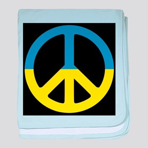 Peace Sign Ukraine Flag - ????????? ? baby blanket