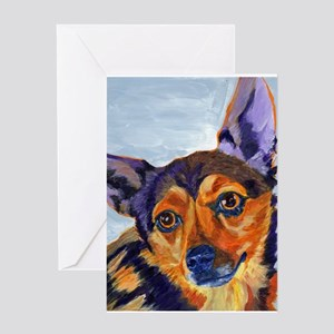Chihuahua Portrait-Scooter Greeting Cards