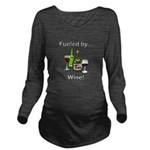 Fueled by Wine Long Sleeve Maternity T-Shirt