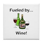 Fueled by Wine Tile Coaster