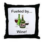 Fueled by Wine Throw Pillow