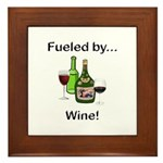 Fueled by Wine Framed Tile