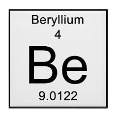 Periodic Table Beryllium Tile Coaster