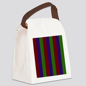 Jewel Toned Stripes Red Purple Gr Canvas Lunch Bag