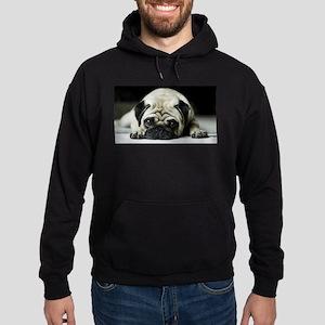 Pug Puppy Hoodie (dark)