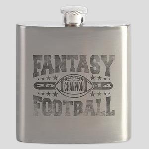 2014 Fantasy Football Champion - Football Flask