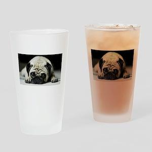 Pug Puppy Drinking Glass