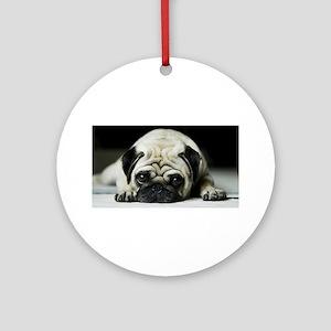 Pug Puppy Ornament (Round)