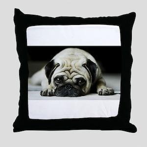 Pug Puppy Throw Pillow