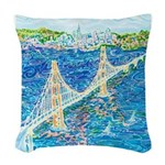 Golden Gate San Francisco Woven Throw Pillow