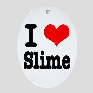 I Heart (Love) Slime Oval Ornament