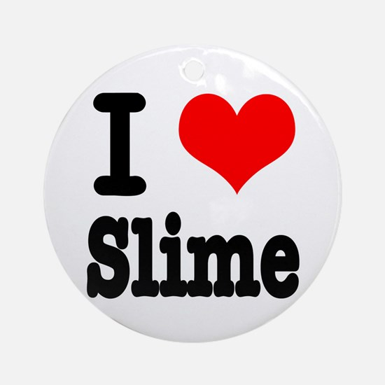 I Heart (Love) Slime Ornament (Round)