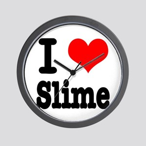 I Heart (Love) Slime Wall Clock