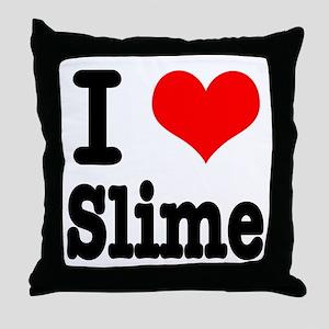 I Heart (Love) Slime Throw Pillow