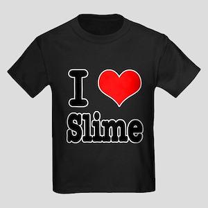 I Heart (Love) Slime Kids Dark T-Shirt