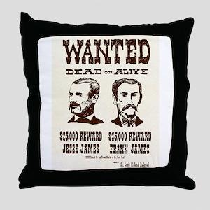 Jesse & Frank James Throw Pillow