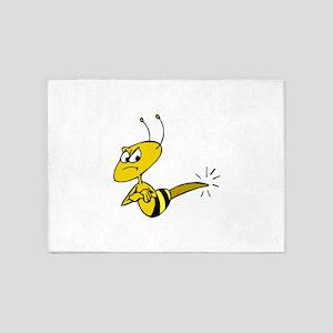 Angry Bee 5'x7'Area Rug
