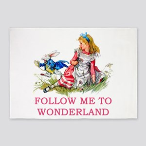 ALICE - Follow Me To Wonderland 5'x7'Area Rug