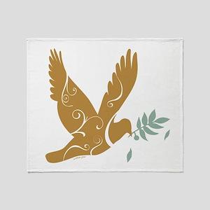Peace Dove Christmas Throw Blanket