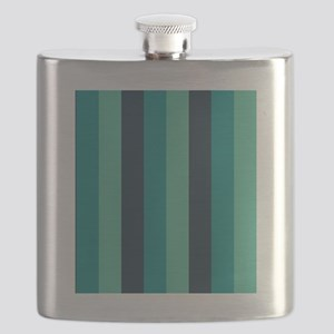 Shades of Blue Stripes Striped Flask