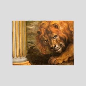 Rubens lion 5'x7'Area Rug